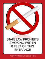 No Smoking Laminated Signs